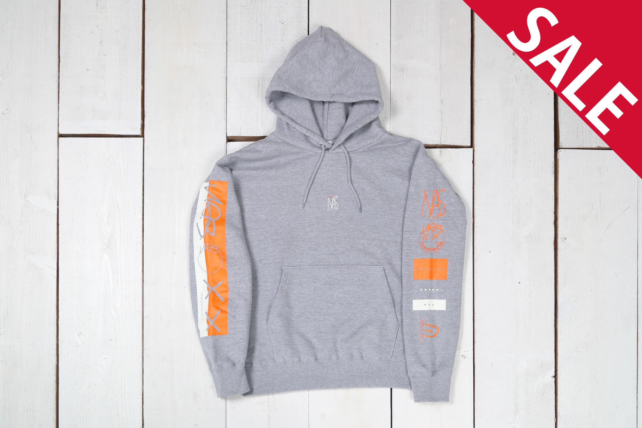 【lies】10.0 Oz. P/O sweat hoodie/color:GRY