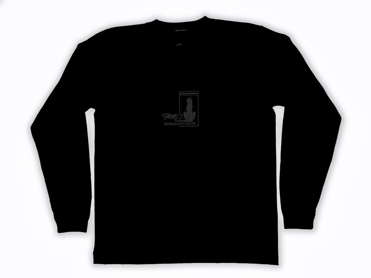 "【Seven Art Value】""black panther"" 5.6 Oz. long sleeve T shirt / color: BLACK"