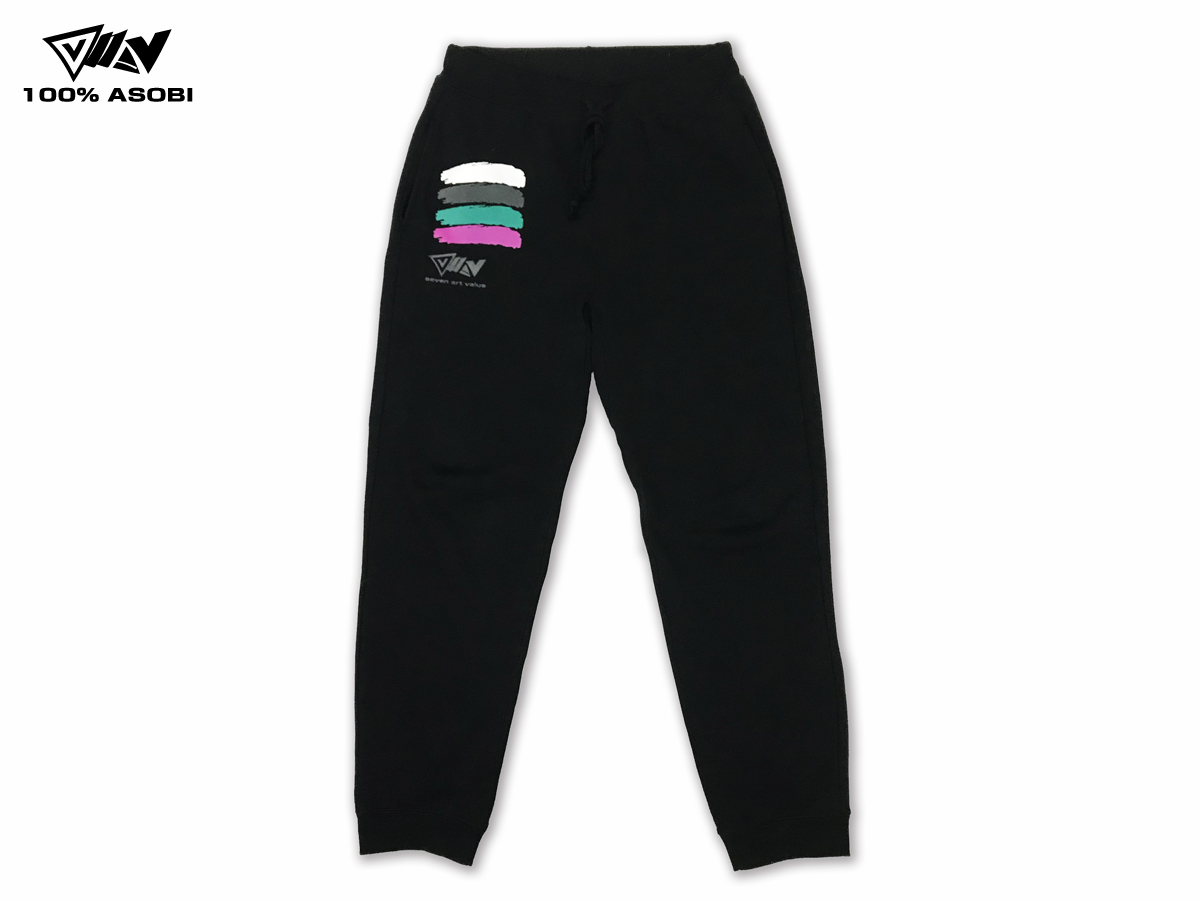 "【Seven Art Value】""100% ASOBI""  Sweat pants / color: BLACK"