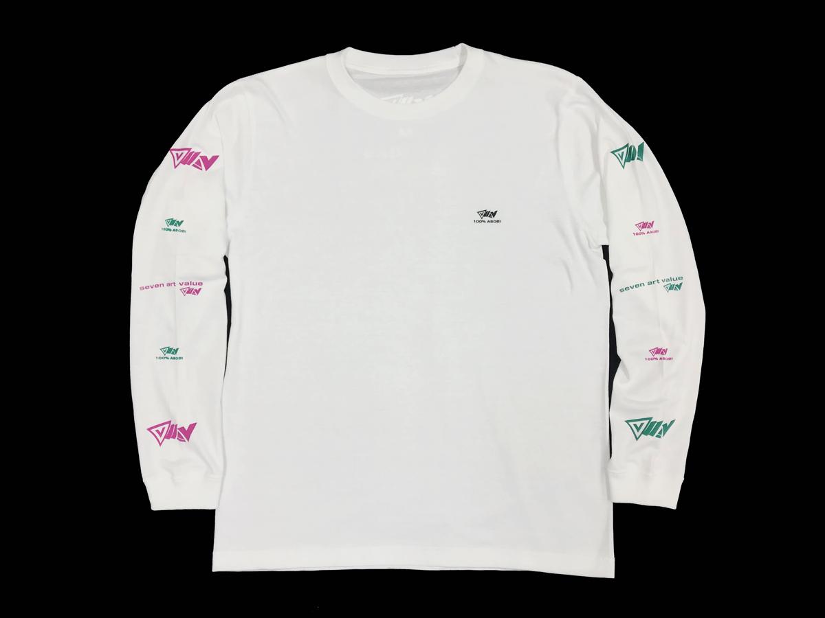 """【Seven Art Value】""""100% ASOBI"""" long sleeve T shirt / color: WHITE"""