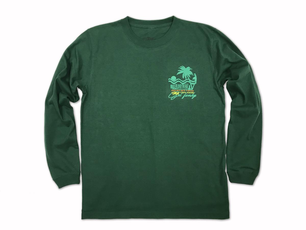 "【Seven Art Value】""Sunset"" long sleeve T shirt / color: GREEN"