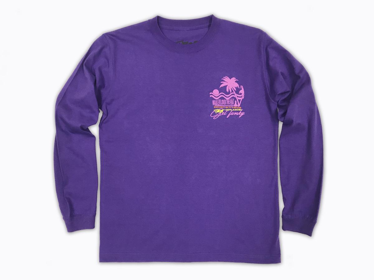 "【Seven Art Value】""Sunset"" long sleeve T shirt / color: PURPLE"