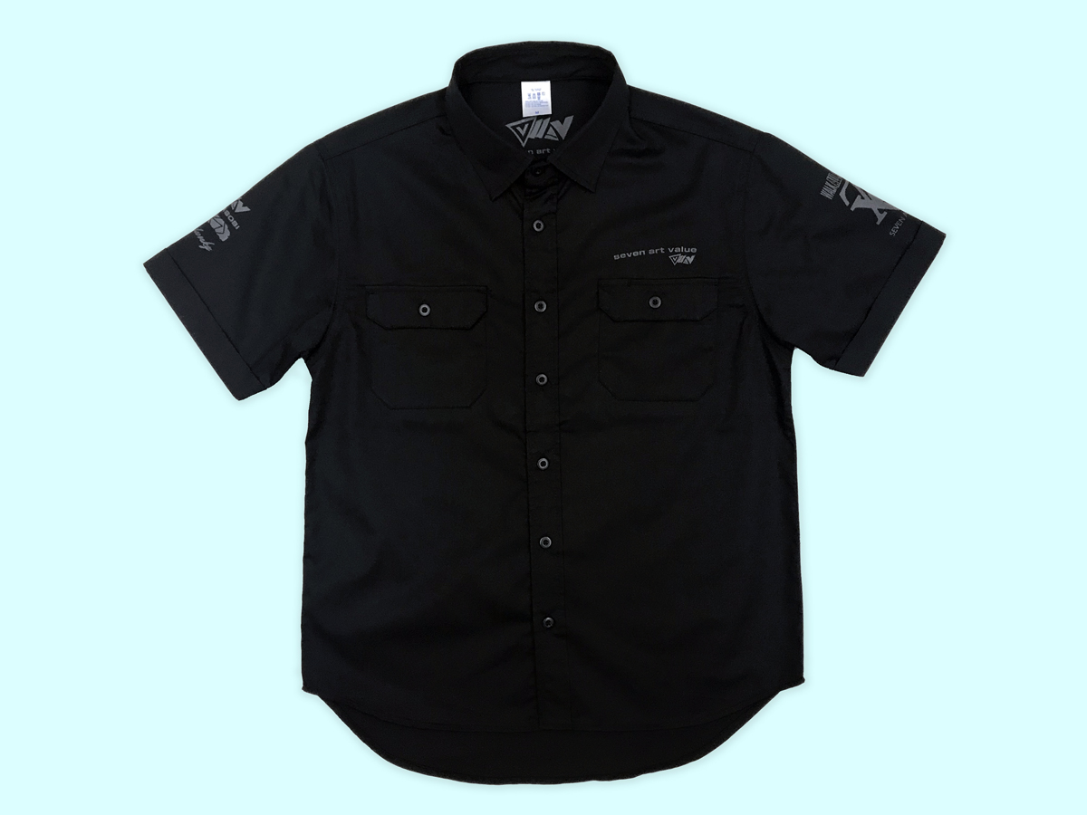 【Seven Art Value】work shirts / color: BLACK