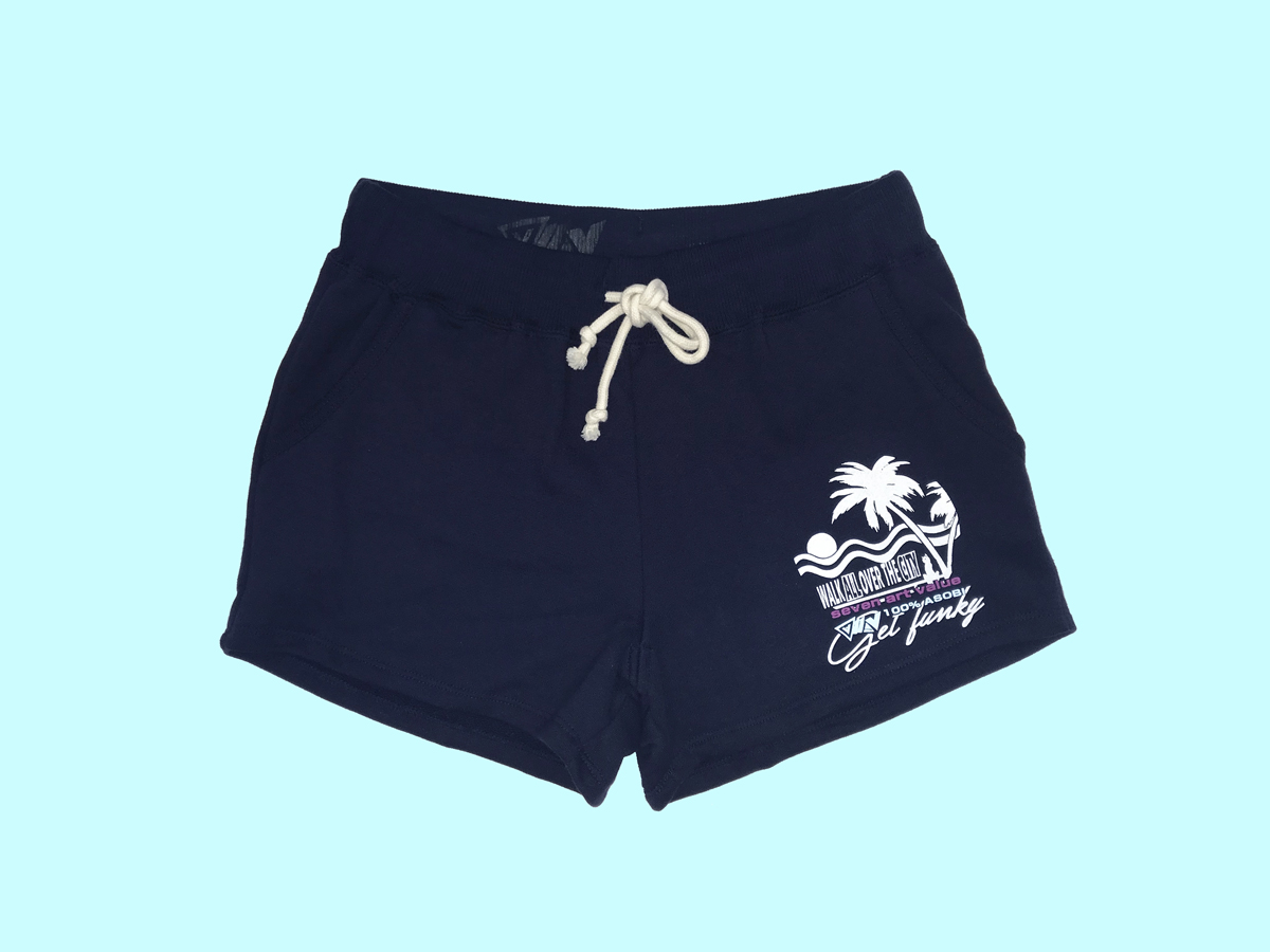 "【Seven Art Value】for ladys sweat shorts  // ""SUNSET""/ color: navy"
